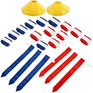 Yaesport 14 Player Flag Football Deluxe Set - Flag Football Kit with 14 Belts, 42 Flags,12 Cones and Storage B