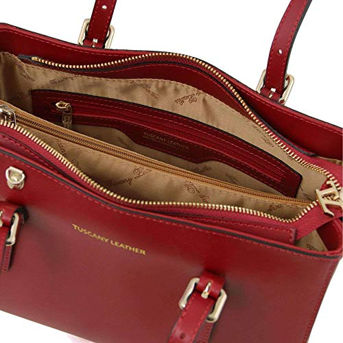 Rosso A Leather Donna Tl141434 Borsa Compact Spalla Tuscany ZF7YqwPP