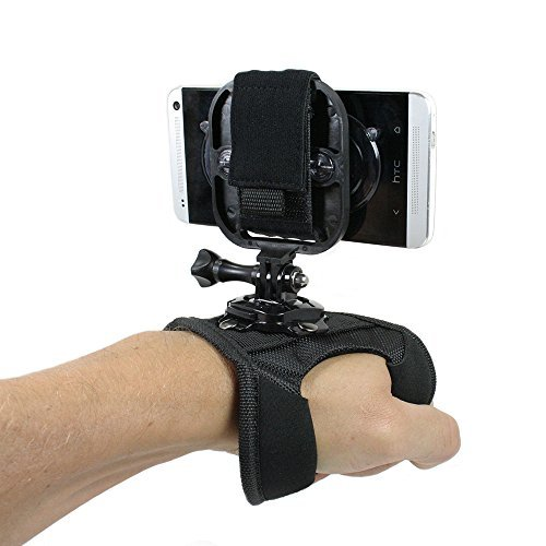 Action Mount Hand Strap (Glove) + Universal Mount Adapter for Smartphone (Action Mount) + Thumb Screw Operable with Any Smartphone Strongest Hold on the Market Action Mount for Gopro Iphone 5s 5 4s Samsuang Galaxy S5 S4 S3 Use with a Phone or Gopro Camera