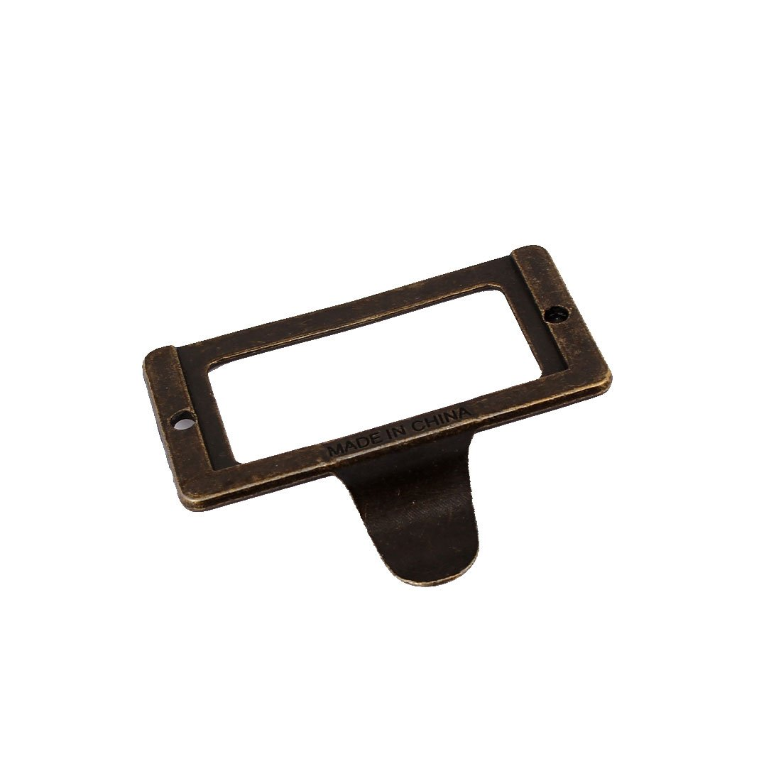 uxcell 58mm x 45mm Vintage Style Tag Lable Pull Handle for Box Cabinet Drawer 10PCS