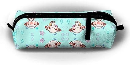 Eloise The Axolotl Kawaii Cute Animal Pen Bag Makeup Pouch Zipper Box Office Organizer Bag Pencil Case: Amazon.es: Oficina y papelería