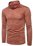 LD Men's Casual High Neck Long Sleeve Hip Hop Rock T-Shirt Tees Tops 1 US L