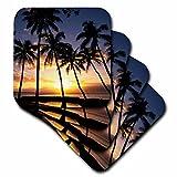 3dRose cst_89596_2 Sunset Lahaina Maui Hawaii US12 DPB0436 Douglas Peebles Soft Coasters (Set of 8)