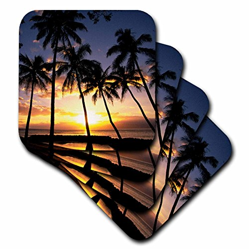 3dRose cst_89596_2 Sunset Lahaina Maui Hawaii US12 DPB0436 Douglas Peebles Soft Coasters (Set of 8) by 3dRose
