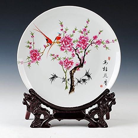 Loopsd Jingdezhen Ceramic il peach-disc punto della decorazione di ...
