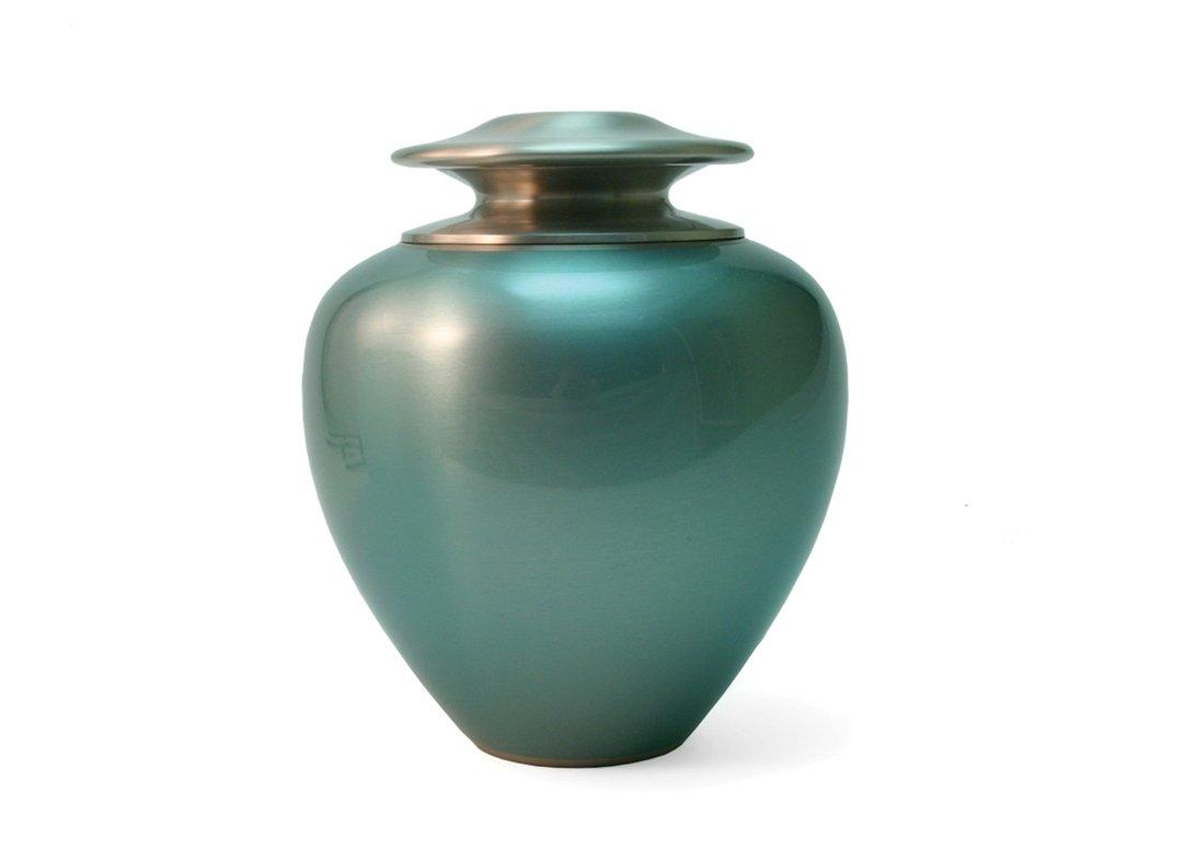 Hand Crafted Brass Satori Ocean Memorial Urn - Large - Includes FREE Liberty Microfiber Cloth