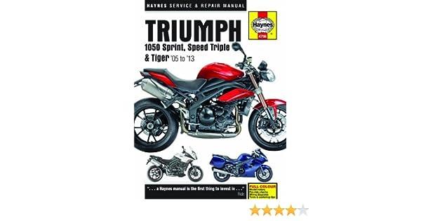 triumph sprint st 2005 2010 repair service manual
