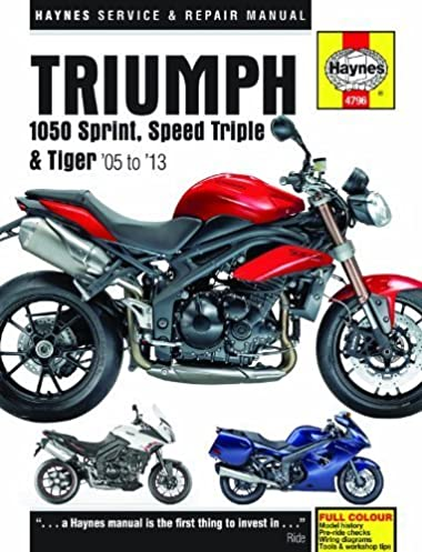 triumph 1050 sprint st speed triple tiger service and repair rh amazon com 2017 Triumph Speedmaster Triumph Tiger 800
