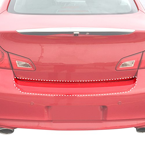 (Red Hound Auto Rear Bumper Paint Protection Film Compatible with Infiniti 2011-2013 G37, 2007-2010 G35 and More Sedan 4dr 1pc PPF Custom Clear Self Healing Invisible Cover)