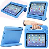Evecase iKiz Multi Function Child / Shock Proof Kids Cover Case with Stand / Handle for Apple iPad Mini Tablet 1st Generation - Blue