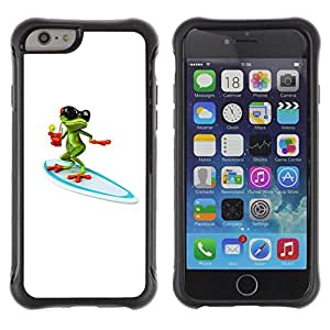 Suave TPU GEL Carcasa Funda Silicona Blando Estuche Caso de protección (para) Apple Iphone 6 PLUS 5.5 / CECELL Phone case / / Sun Summer Beach White Frog Cartoon /