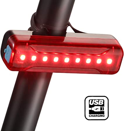 BLITZU Cyborg 168T USB Rechargeable LED Bike Tail Light Bright Bicycle Rear Get