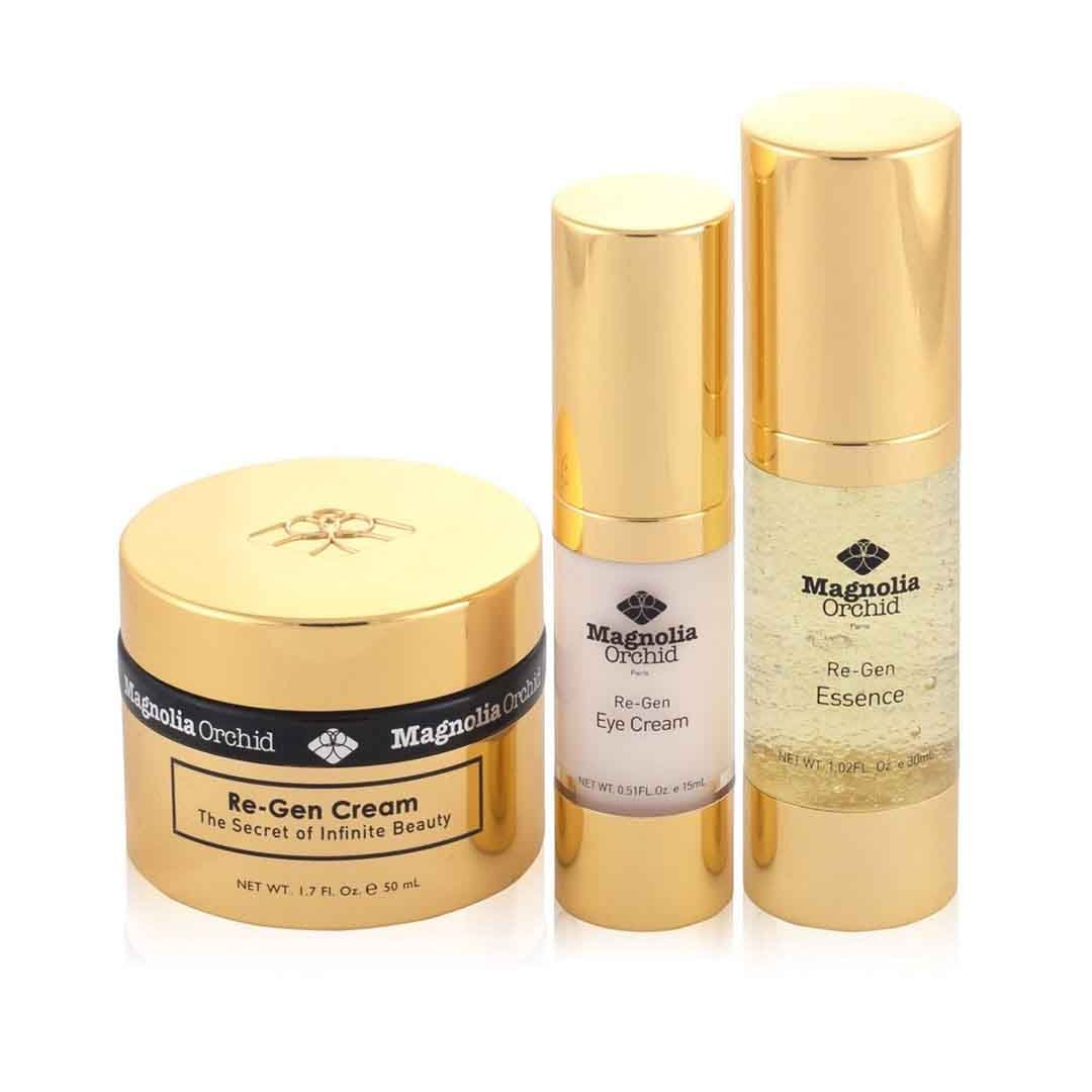 Magnolia Orchid Re-Gen Cream, Re-Gen Eye Cream, Re-Gen Essence Gift Set