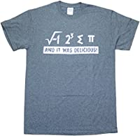 I Ate Some Pie And It Was Delicious Pi Math Funny Mens T-Shirt Heather Grey