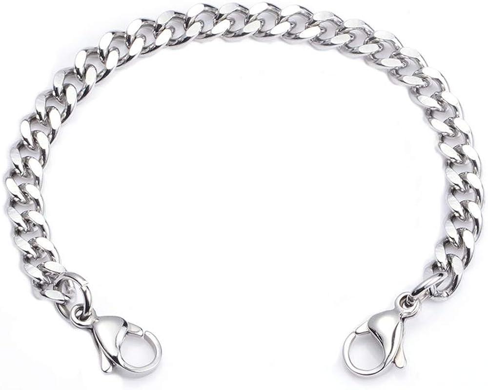 Just Chain linnalove-Stainless Steel Curb Chain lnterchangeable Medical Alert Bracelets