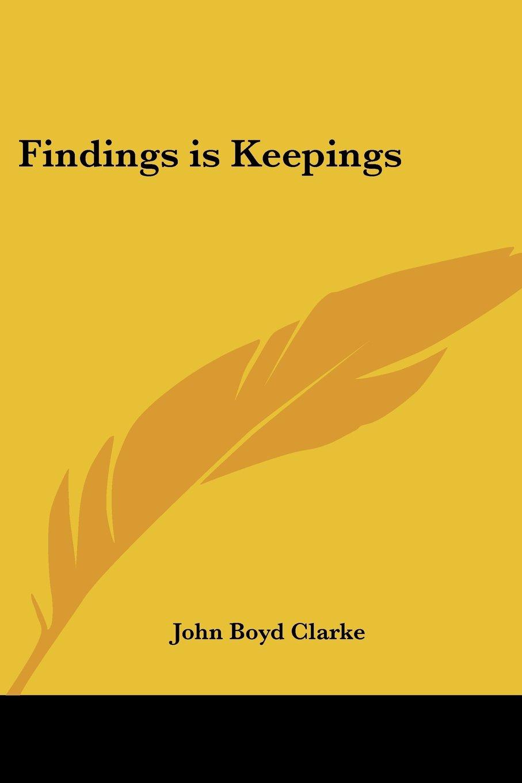 Download Findings Is Keepings ebook
