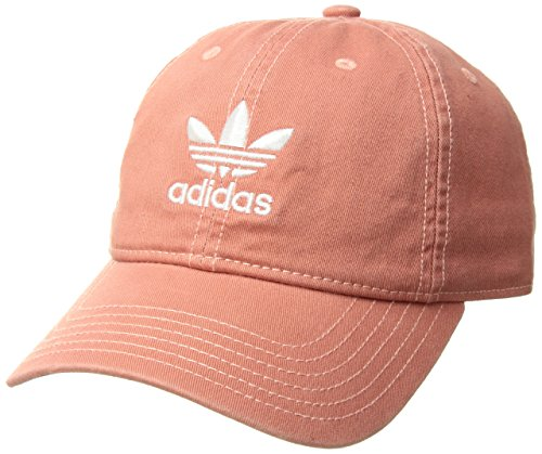 adidas Women's Originals Relaxed Fit Strapback Cap, Trace Scarlet/White, One (Adidas Red Hat)