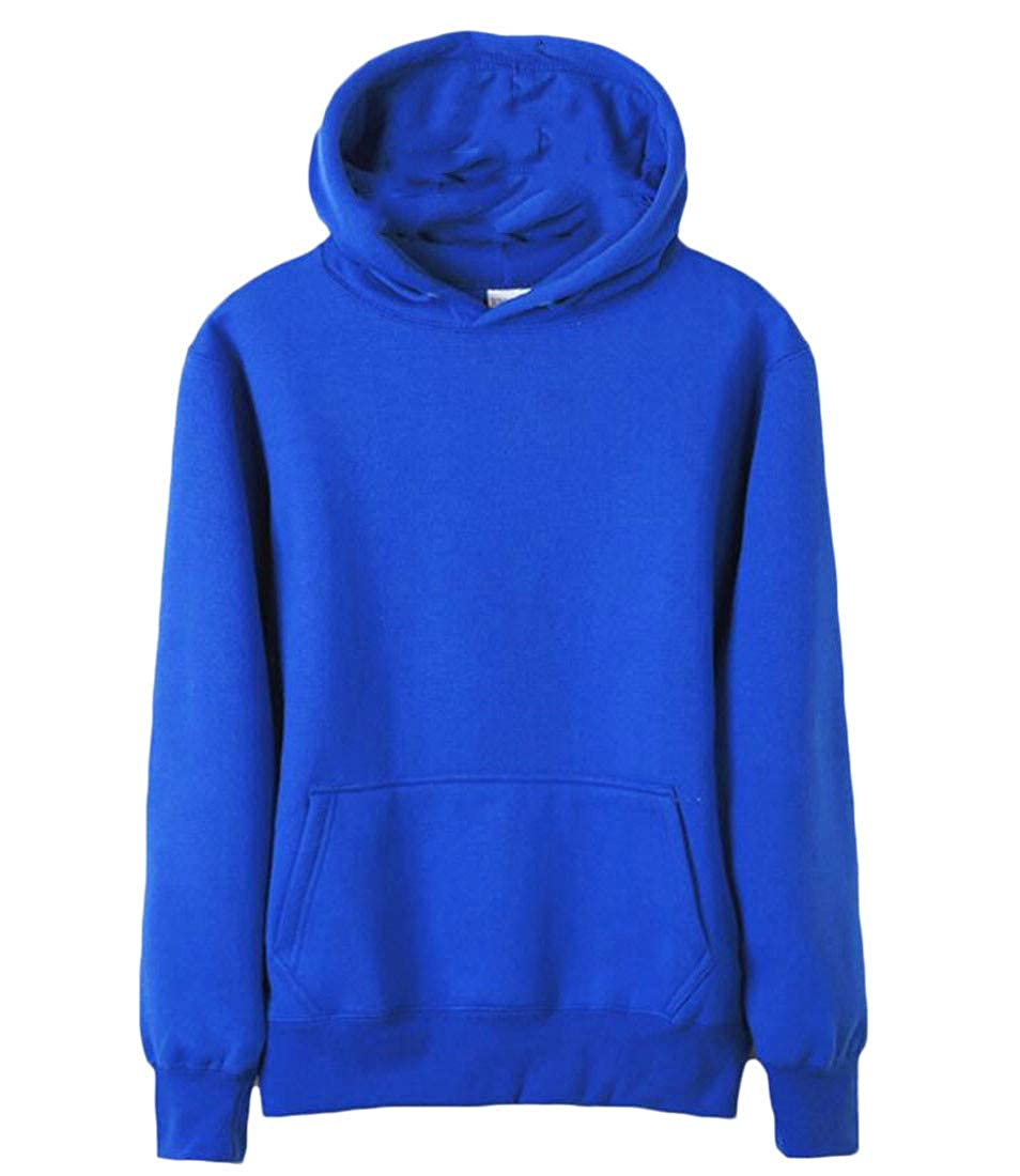 Lutratocro Mens Hoodie All-Match Athletic Solid Pullover Slim Fit Sweatshirts