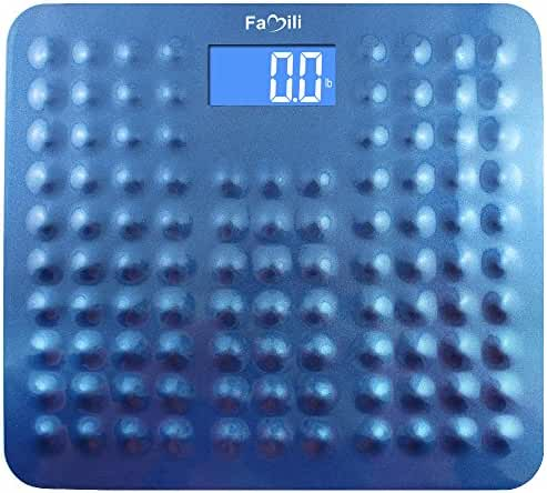 Famili 271B Digital Body Weight Bathroom Scale with Non Slip Design 11lb to 400lb / 5 to 180kg