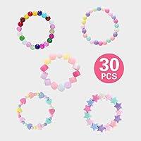 RunXin 30 Pulseras de la Princesa Las niñas,Pulsera