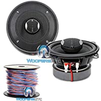 pkg Focal IC 100 4 100W RMS 2-Way Integration Series Coaxial Speakers + 50 Foot Spool True 16 Gauge High Definition Twisted Speaker Wire