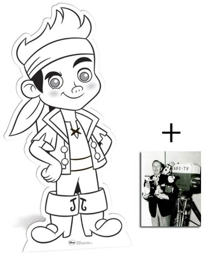 Fan Pack - Jake and The Neverland Pirates Colour and Keep Cardboard Cutout Standee - Includes 8x10 (20x25cm) Star Photo (Jake And The Neverland Pirates Cardboard Cutouts)