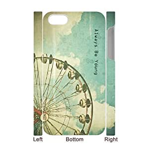 Forever Young Customized 3D Cover Case for Iphone 4,4S,custom phone case ygtg591529