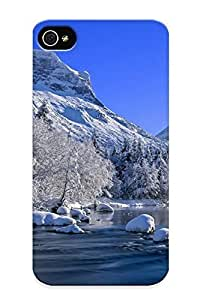 1766f041124 Artistgirl Awesome Case Cover Compatible With Iphone 4/4s - Mountain River In Winter hjbrhga1544
