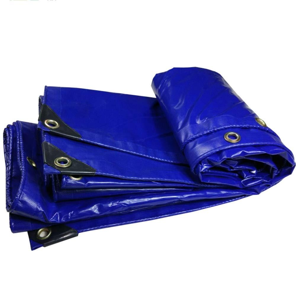 YANFEI ターポリン, Pvc防水用タパリン耐引裂性の日焼け止め用のターポリン、トラック用トラックのトップカバー用ブルー(350g /㎡) (サイズ さいず : 4*8m) 4*8m  B07KK1KVDN