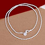 Sumanee Fashion Snake Rope Chain 925 Solid Silver Men Women Jewelry Necklace New 16-30 (24)