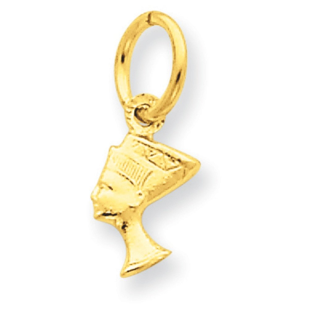 Pendants Travel and Transportation Charms 14K Yellow Gold Egyptian Nefertiti Charm Pendant