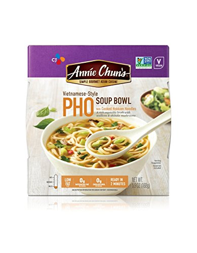 Annie Chun's Pho Soup Bowl with Hokkien Noodles, NON-GMO, Vegan, Vietnamese-Style, 5.9-oz (Pack of 6) Japan Sugar Bowl