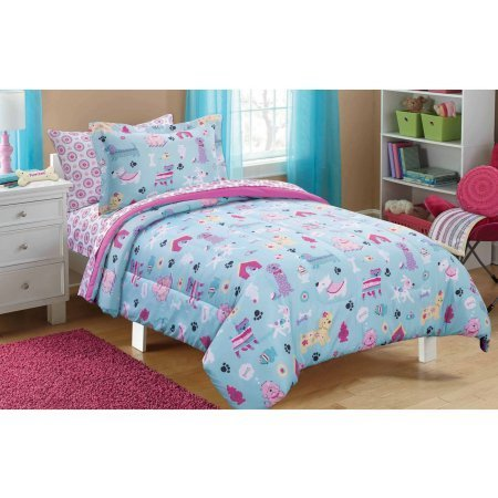 Mainstays Kids Puppy Love Children's/Girls Bed in a Bag Bedding Set (Twin Size) by Mainstay