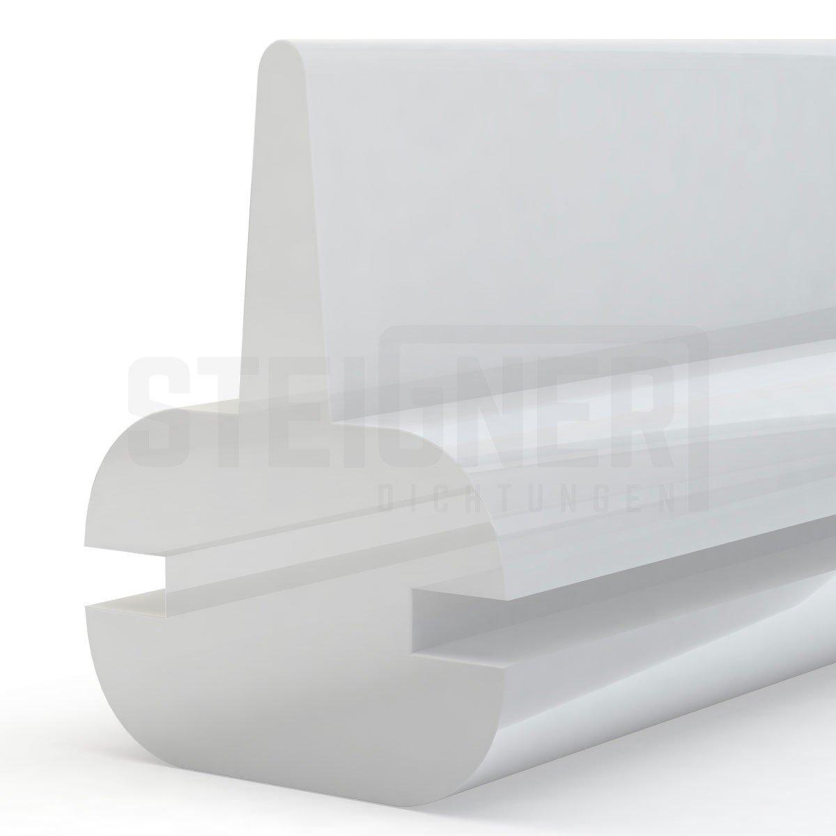 STEIGNER Joint de douche en silicone 120cm SDD01 blanc - joint d'étanchéité pour la protection contre les fuites d'eau