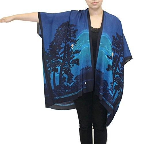 Cocoon House - Women's Vesper Silk Long Kimono Jacket Oversized One Size Plus