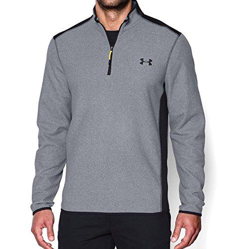Under Armour Men's ColdGear Infrared Fleece 1/4 Zip, Steel /Black, ()