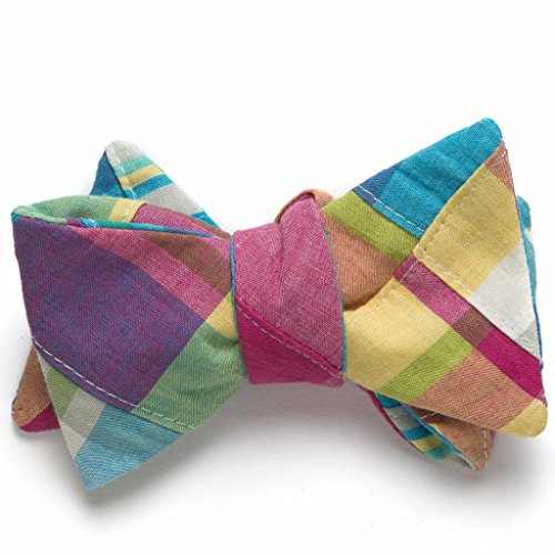 Patchwork Madras Bow Tie- Mystic -