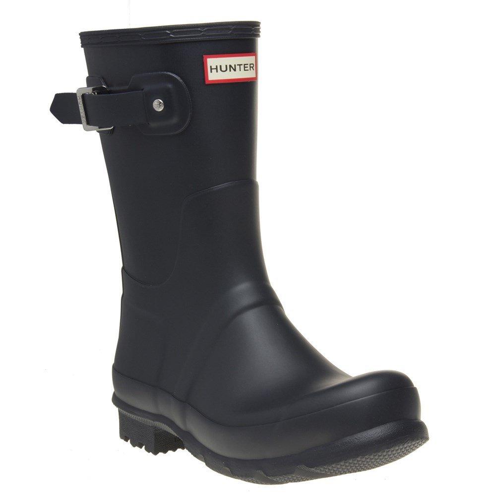 Hunter Mens Original Short Rain Boots Navy 8 M