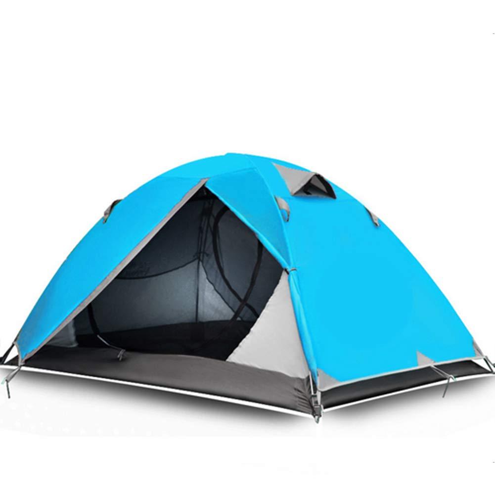アウトドア用品ダブルキャンプテント防雨雨プロキャンプ登山機器テント  lakeblue B07MRK4B8M
