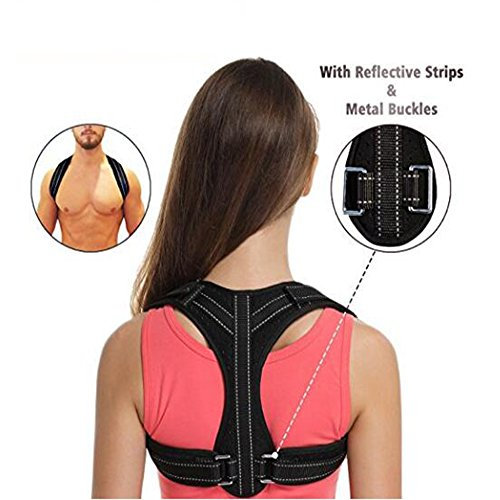 Posture Correction Back Supporter, Relieves nack Pain aid, Premium and Comfort Clavicle Correct Brace Adjustable Upper Back Straightener for Improving Myopia Men Women Child Office Home Essential by ZOORE