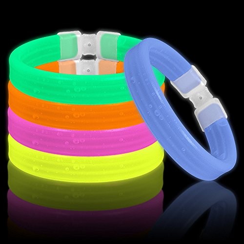 Lumistick Triple Thick Ultra Bright Glow Bracelets | Kids Safe Non-Toxic Multicolor Light Up Long Lasting Parties Glowsticks (Neon Color Assortment, 30)