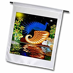 SmudgeArt Bird Artwork Designs - A Poetic Perch - Bird Art - 12 x 18 inch Garden Flag (fl_6545_1)