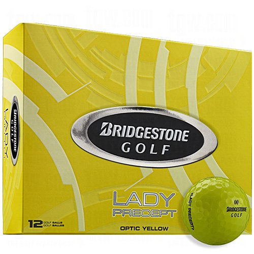 (Bridgestone Lady Precept Golf Balls (Optic Yellow, 12 Pack) Women)