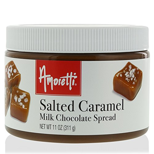 Amoretti Salted Caramel Spread, Milk Chocolate, 11 Ounce (Brownie California Chocolate)