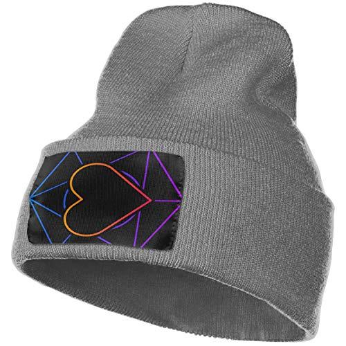 (Sacred Geometry Heart Knitted Beanies Hat Winter Wool Skull Cap)