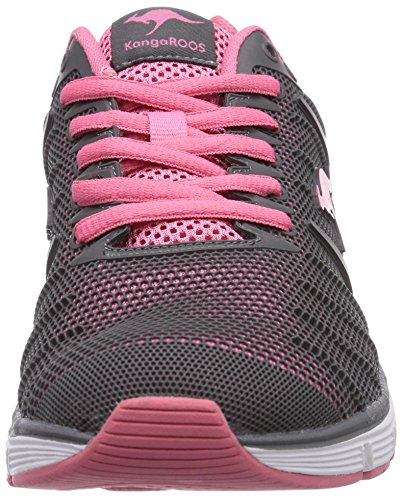 KangaROOS K-Tech 8007 - zapatilla deportiva de material sintético unisex gris - Grau (dk grey/pink 269)