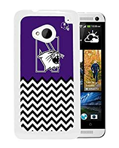 NCAA North Western Wildcats 4 White Customize HTC ONE M7 Phone Cover Case