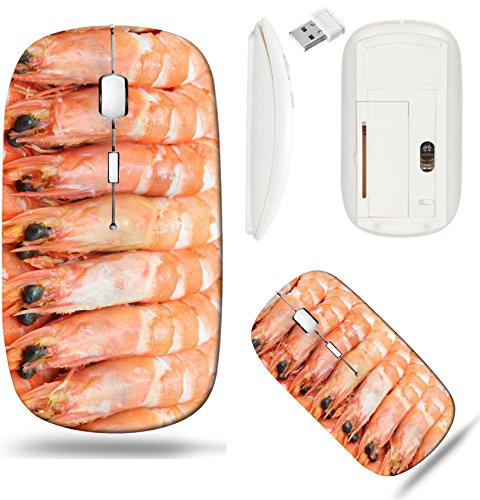 Liili Wireless Mouse White Base Travel 2.4G Wireless Mice with USB Receiver, Click with 1000 DPI for notebook, pc, laptop, computer, mac book IMAGE ID: 10768318 boiled Shrimp cocktail background using ()