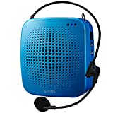 SHIDU S511 Portable Loud Speaker with MIC, PA System Voice Amplifier with Natural Sound, In-built TF Card and USB Flash Drive, for Teachers Tour Guide (Sky Blue)