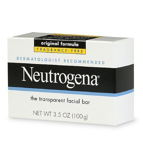 Neutrogena Transparent Facial Bar Soap, Fragrance Free 3.5 oz (pack of 2)